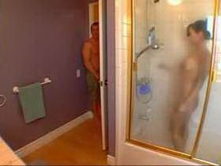 Horny Teenager Spying On His Hot Stepmommy While She Was Showering