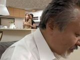 Hidding From Strict Boss Spoiled Son And Maid Having Sex Behind Bar