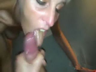 Skinny Blonde Milf Masturbates And Sucks A Big Fat Cock