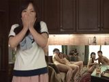 Shocked Wife Could Not Belive That Her Husband And His Friend Bring Hookers At Her House - Hitomi Enjuo Azusa Mayumi