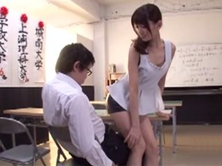 Hot Teacher In Leather Skirt Saducing Young Boys In School - Kijima Airi