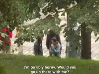She Hooked a Stranger On The Street And Fuck Him In the Park But Without Telling Him That Her Friend Is Filming