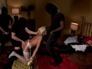 Kidnapped Bride Was Rough Gangbang In Front Of Her Tied Groom