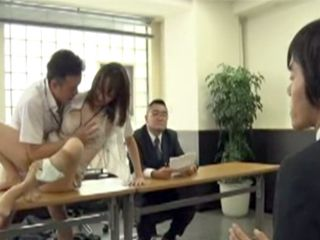 Chief of The Journal Instead Of Good Articles Gets Hard Sex On The Office Table