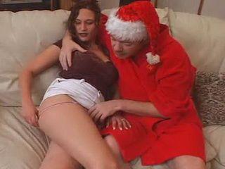 Naughty Santa Claus Fucks His Reindeer Girl