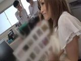 Naughty Collegue Showing Catalog Of Her Favorite Vibratos To Her Boss Hoping That He Will Get In Action With Real One