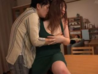 Drunk Husband Overdid It With Drink And Fall Asleep And His Dirty Friend Fuck His Poor Wife - Chitose Saegusa