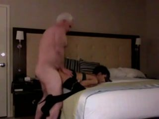 Old Man Fuck Young Prostitute In A Hotel Room