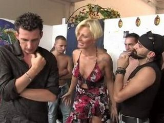 Nasty Husband Pass His Busty Mature Wife To His Football Pals