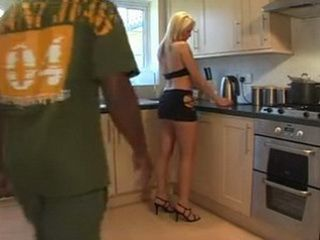 Lonely Housewife Gets Surprised In The Kitchen