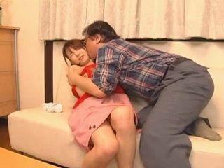 Asian Poor Teen Couldnt Defend Herself From Horny Old Pervert Stepdad