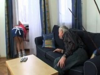 Old Grandpa Prepares To Seduce His New Housemaid