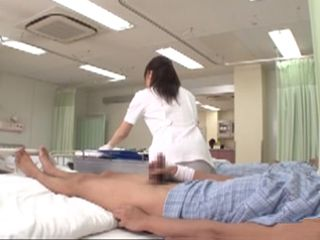 Japanese Nurse Has To Jerk Off Patient Cock To Calm Him Down - Sakaguchi Rena