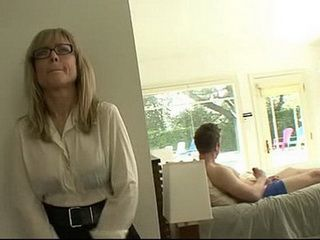 Sex Addict Stepmom Came Earlier From Work And Caught Him In Her Net