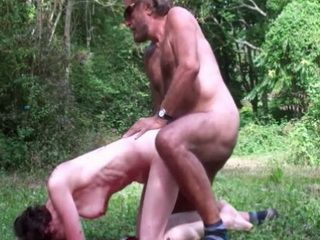 Old Couple Hard Banging In The Woods