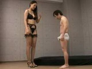Tall Japanese Girl Fucks Small Man