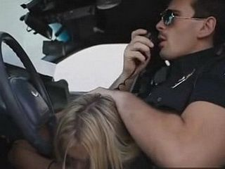 Dirty Policeman Neglecting His Duty To Enjoy Hard Fuck