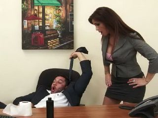 Disciplinary Measures For Naughty Employed From Busty Milf Boss