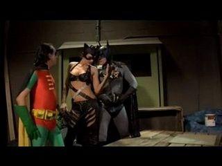 Hard Fucking Catwoman In Cosplay Threesome