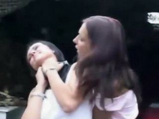 Cheeky Babe Provoke Catfight But Gets Fucked