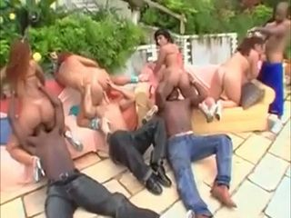 Pool Party With Slutty Big Ass Latinas Turn Into Group Fuck
