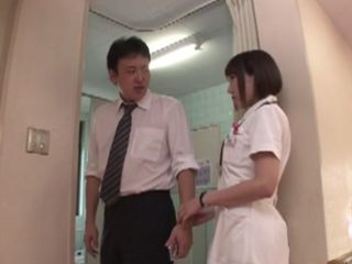 Horny Nurse Seduce Janitor To Fuck Her In the Hospital toilet During Long Night Shift