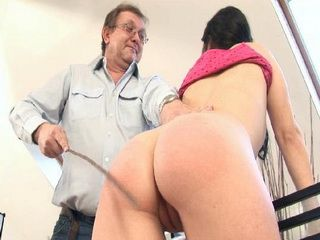 Spanking Isnt Only Punishment Daddy Has For Disobedient Brunette Schoolgirl