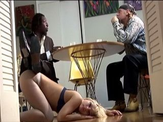 Poor Blonde Gets Pussy And Anal Destroyed After Poker Game