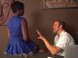 Pervert Coach Offers Indecent Proposal To Shy Ebony Cheerleader Teen