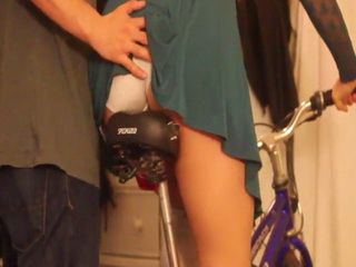 Miserable Stepfather Behave Inappropriate During Teaching His Stepdaughter Riding A Bicycle