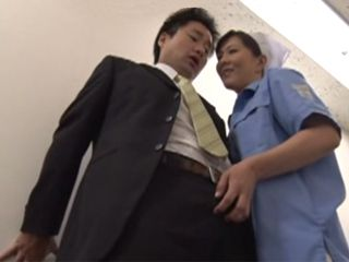 Company Cleaner Hitomi Enjoh Fucked Assistant Manager On Hallway