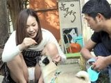 Petting A Neighbor's Dog With Flashing Panties Gets Strange Situation Development
