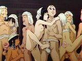 Shemale anime group gangbang
