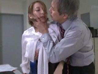 Blackmailed Secretary Kanon Mochizuki Gets Cruelly Fucked By Her Evil Boss