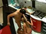 Sporty Girl In Thongs Secretly Recorded Fucking In Kitchen