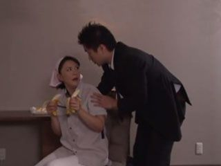 Hotel Guest Busted Milf Maid Sucking Two Bananas - Hitomi Enjoh