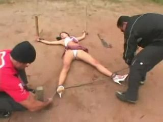 Poor Latina Gets Extremely Rough Banged By Two Local Hooligans