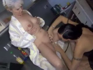 Mature Housewife Gets Straponed