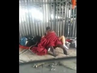 Busting A Homeless Couple Having Sex In The Public
