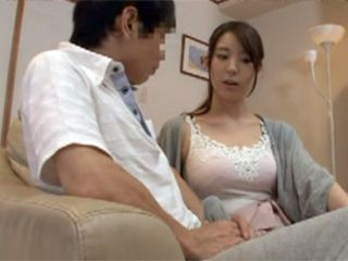 Busty Stepmom Pretended Not To See Her Son Erected Cock But She Could Not Long Abstain