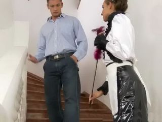 Cock Hungry Maid Polishing Her Boss Big Cock