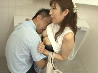 Gorgeous MILF Akari Nanahara Made Big Mistake For Entering Mans Toilet