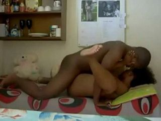 Horny Guy Fucked Ebony Teen And Her Pussy Filled With Cum