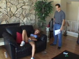 Father Caught Shameless Stepdaughter Doing Masturbation In The Living Room