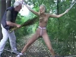 Creepy Highlander Intercept Girl While Hiking Through Forest And Make Her Deepest Fear Into Reality