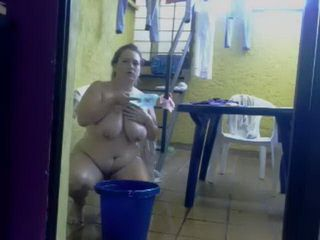 Washing Herself Befor Webcam Show