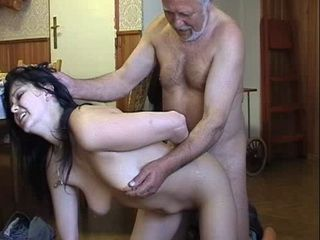 Naughty Grand Daughter Gets Punished By Not Hers Lewd Grandpa