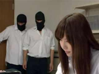 Masked Students Broke In The New Hot Teacher Office And Fuck Her With No Mercy
