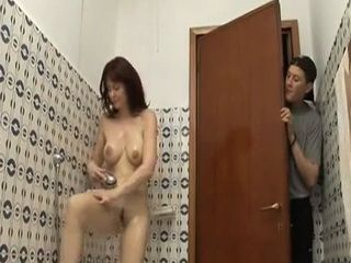 Dirty Stepson Spying On His Lovely Mommy While Taking A Shower