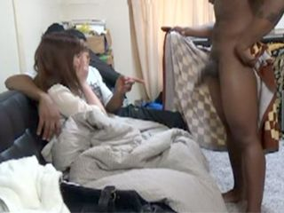 Two Black Bulls Took Advantage Of Naive Japanese Student Girl In A Dorm